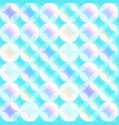 blue circle mosaic seamless pattern vector image