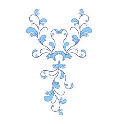 Blue flower ornament vector