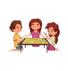 board game adventure composition vector image