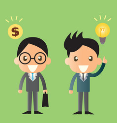 business man cartoon design vector image