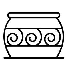 Cauldron potter icon outline style vector