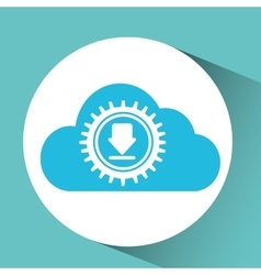 Cloud download icon vector