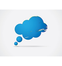 Cloud shaped speech bubble vector
