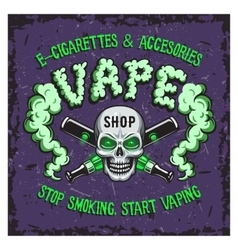 Colour of vape smoking vector