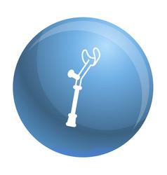 Elbow crutch icon outline style vector
