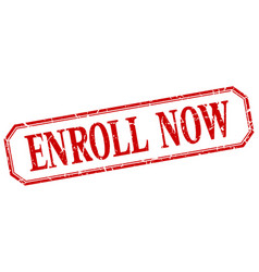 Enroll now vector