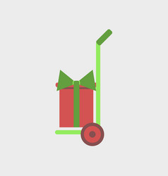 Flat icon of gift delivery vector