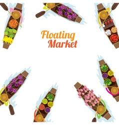 Floating Market Boat Frame vector image