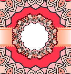 frame red mandala vector image