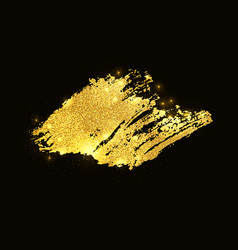 gold glitter paint smear stroke stain vector image