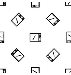 graphics tablet pattern seamless black vector image