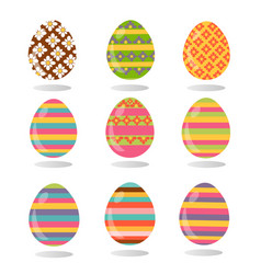 Happy easter flat and cartoon style vector