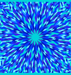 Hypnotic dynamic geometrical abstract radial vector
