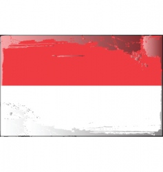 Indonesia national flag vector image