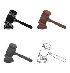 Judge wooden hammer hammer for deducing the vector