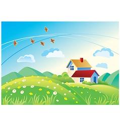 Landscape house vector