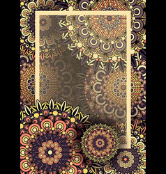 Mandala or radial ornament background frame vector