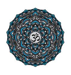 mandala yoga aura art vector image