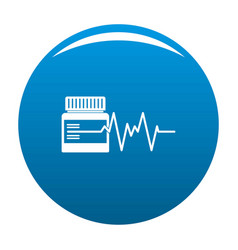 Medicament icon blue vector