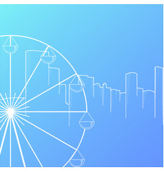 Modern city skyline background flat style vector