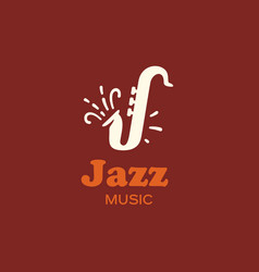 modern professional sign logo jazz music vector image