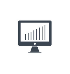monitor related glyph icon vector image