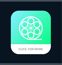 Movies play video american mobile app button vector