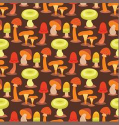 Mushrooms fungus agaric toadstool different art vector