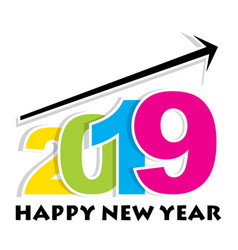 new year 2019 greeting design vector image