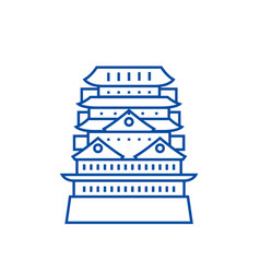 pagodaasian temple line icon concept pagoda vector image