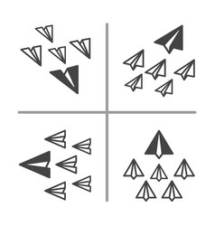 paper plane conceptual and set vector image