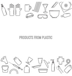 Pattern of plastic recyclable items vector