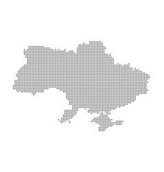 pixel map of ukraine dotted map of ukraine vector image