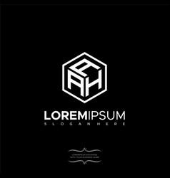 Premium initial aah geometric polygon letter logo vector