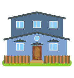 private house with a blue walls vector image