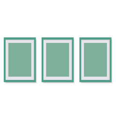realistic green photo frame vector image