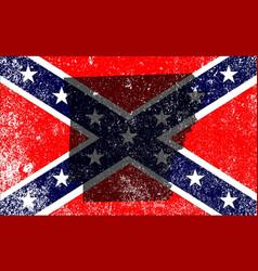 Rebel civil war flag with arkansas map vector