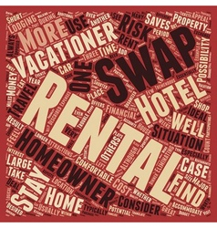 Rental Swaps text background wordcloud concept vector