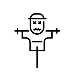 Scarecrow line vector