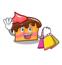 Shopping sponge cake character cartoon vector