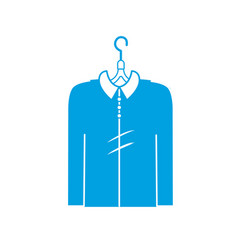 Silhouette man shirt casual design style vector