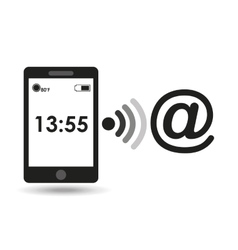 smartphone display mail connection media design vector image