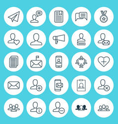 Social icons set collection of add communication vector