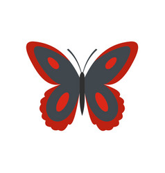 Spotted butterfly icon flat style vector