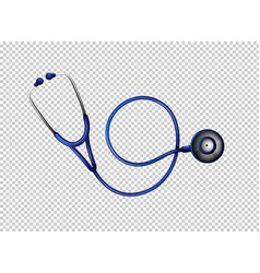 stethoscope in blue color vector image