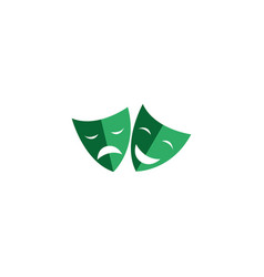 theatrical masks double face happy and sad faces vector image