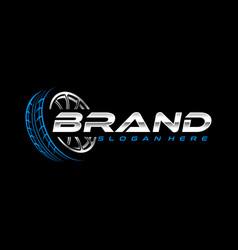 Tire logo template vector