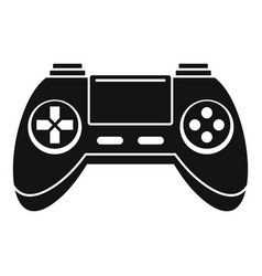 Toy gamepad icon simple style vector