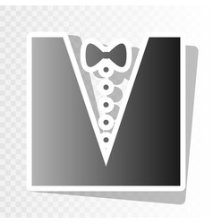 Tuxedo with bow silhouette new year vector