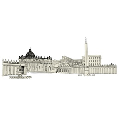 Vatican sketch vector